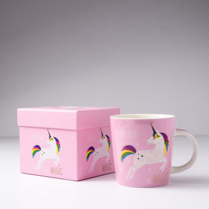 Unicorn Coffee Mug Pink