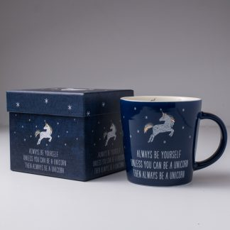 Unicorn Coffee Mug Navy