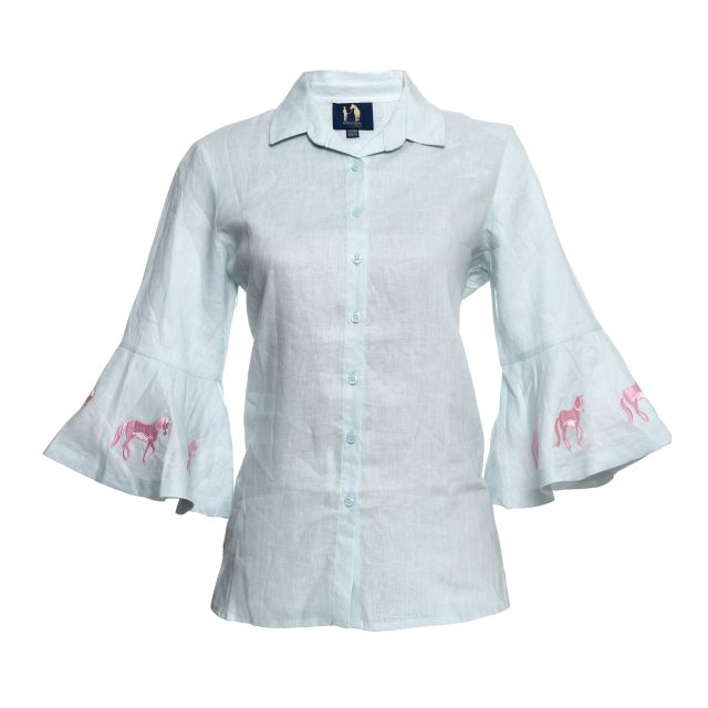 Rönner Design Sand Linen Shirt Light Blue