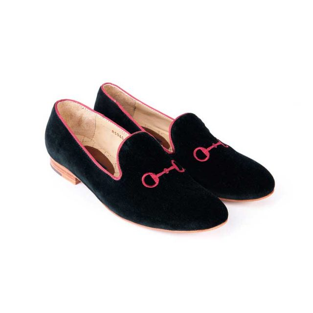 Rönner Design Mimosa Slippers Navy Red Bit