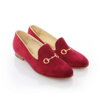 Rönner Design Mimosa Slippers Burgundy Gold Bit