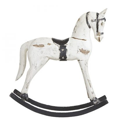 Troja Rocking Horse White Medium