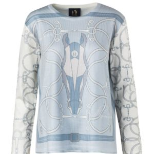 Rönner Design OLIVIA PRINTED SWEATER SOFT BLUE