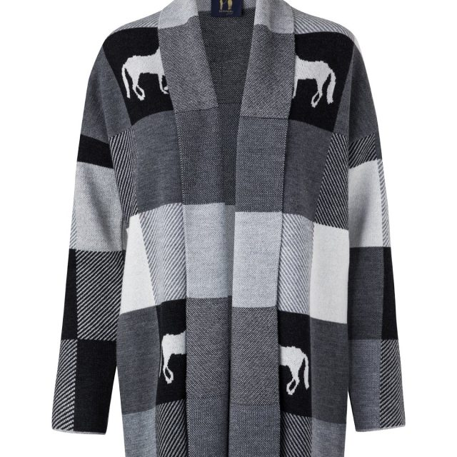 Rönner Design PLAID PONCHO BLACK