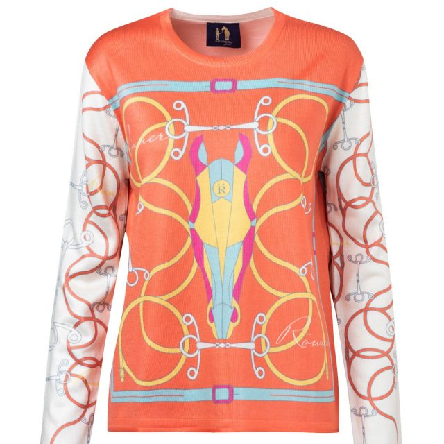 Rönner Design OLIVIA PRINTED SWEATER ORANGE