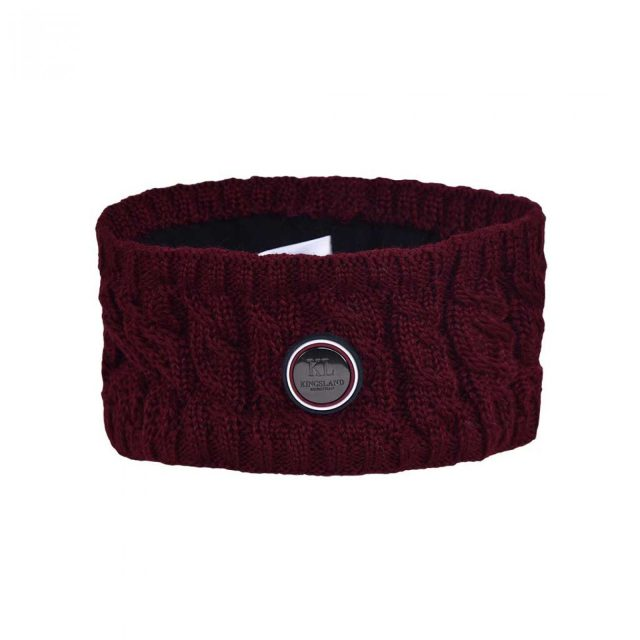 KLsaanich Knitted Head Band Red
