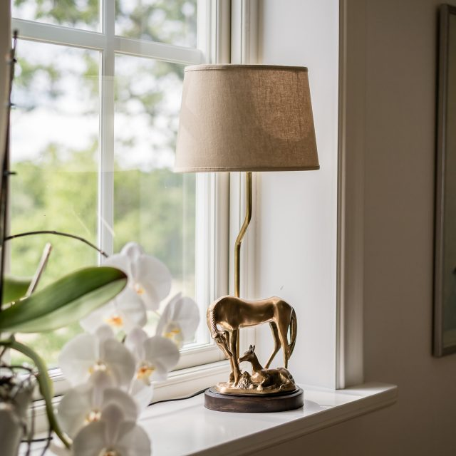 Horse Lamp in Brass