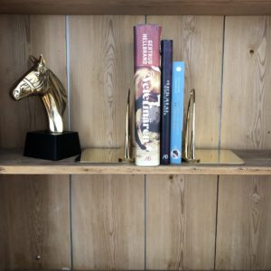 Stirrup Bookend in Brass
