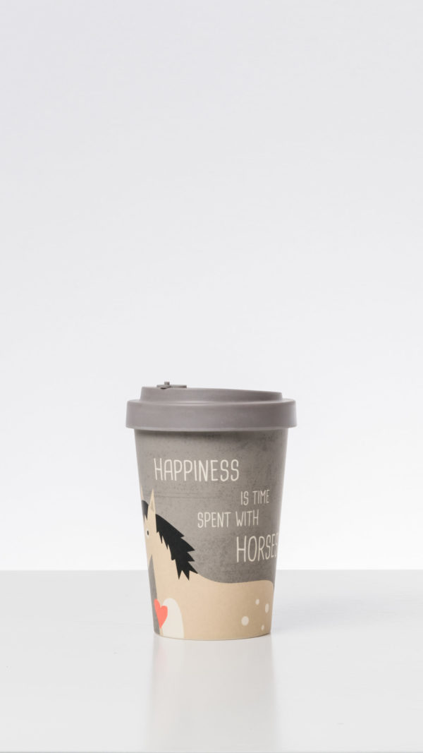 Thermo Mug Happiness is spent with Horses