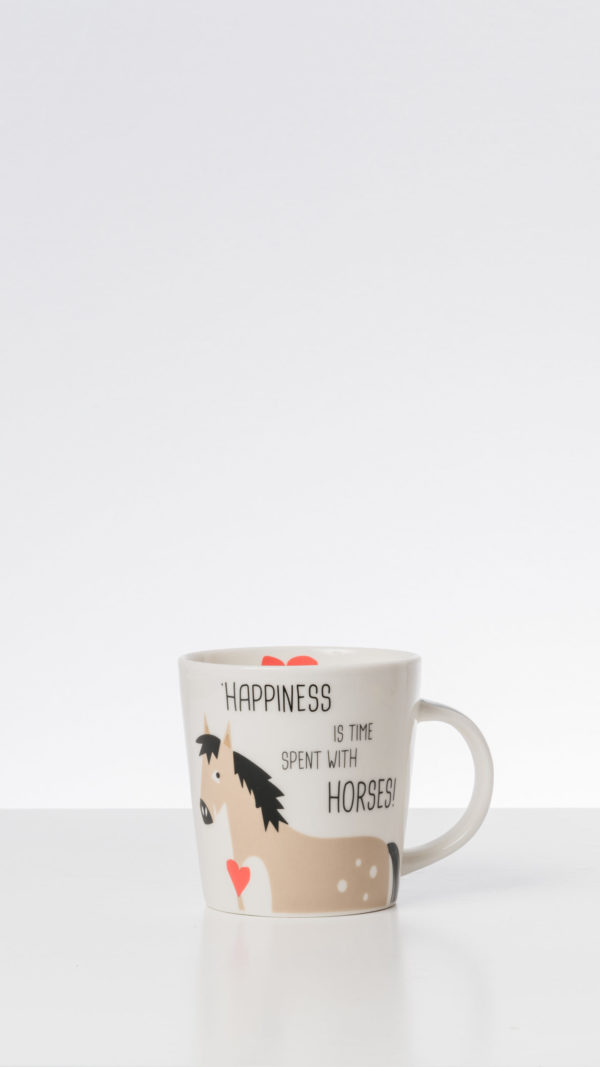 Coffe Mug Happines is spent with Horses