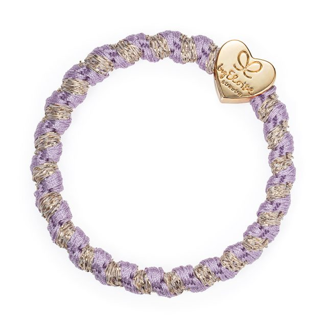 Gold Heart Woven Lavender
